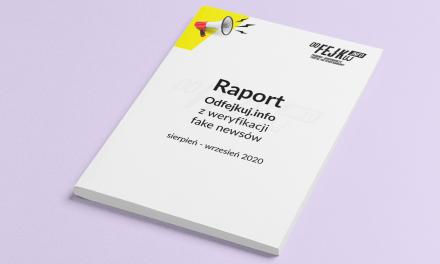 Raport zweryfikacji fake newsów już jest dostępny