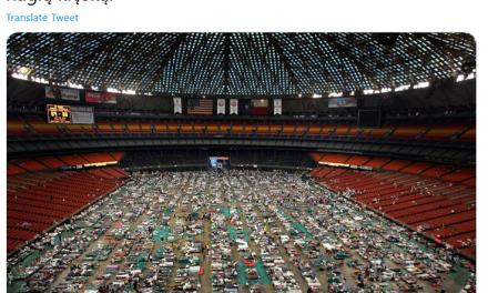 Poinformacji oStadionie Narodowym przekształconym wszpital polowy, Sok zBuraka manipulował amerykańskim zdjęciem