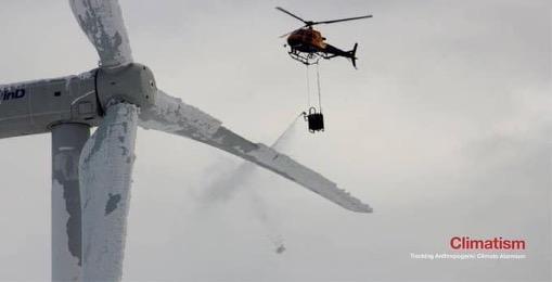 Helikopter nierozpylał chemikaliów nadfarmą wiatrową